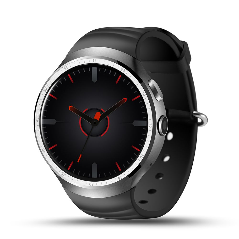 "Lemfo Les1 Smart Watch Phone (Android 5.1 OS, MT6580 Quad-Core 1.3 GHz CPU, 1 GB RAM, 16 GB ROM, 1.39"" 400 × 400 Screen, 2.0 MP HD Camera, 3G, WIFI, Bluetooth, GPS, Heart Rate Monitor, Android and iOS support)"