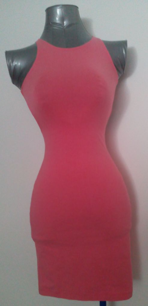 Motel Rocks Rowena Pink Sleeveless Cut Out Back Bandage Bodycon Mini Dress
