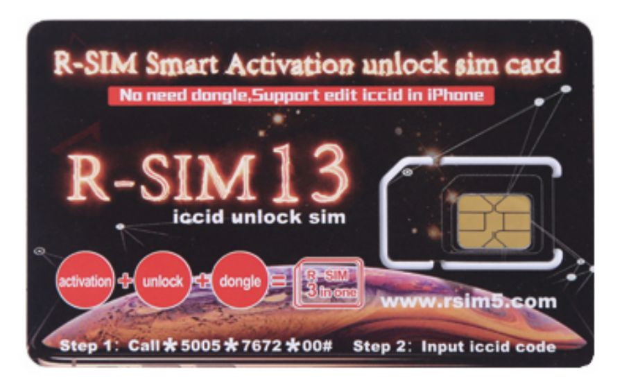 R-SIM 13 One-time Activation Unlock SIM Card for iPhone X/8/7/6/5/4