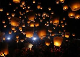 Flying Paper Lanterns (7 pcs in 7 colors)