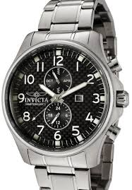 0379 men s watch invicta ii collection carbon fiber black dial invicta 0379 men s watch invicta ii collection carbon fiber black dial swiss movement stainless steel multifunction chronograph